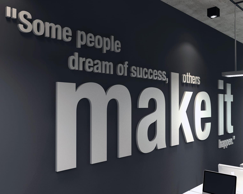 Make It Happen 3D Office Wall Art