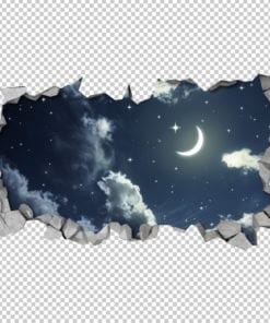 Night-sky-3d-effect-ceiling-decal-detail
