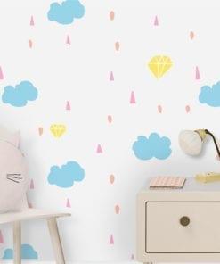 Regenbogen Tapete für Kinderzimmer Dekor