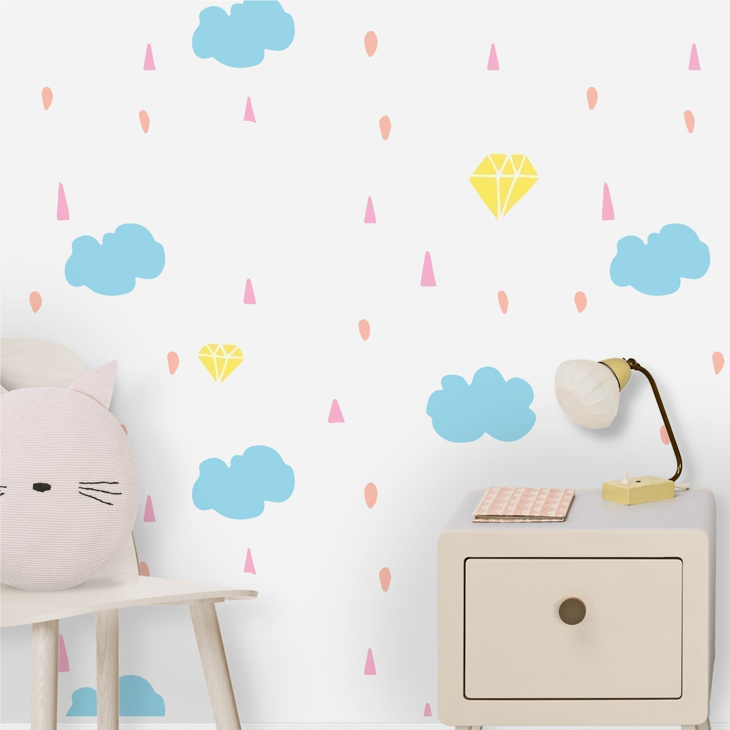 Rainbow Wallpaper for Nursery Decor