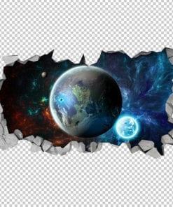 Space-fantasy-broken-wall-effect-detail