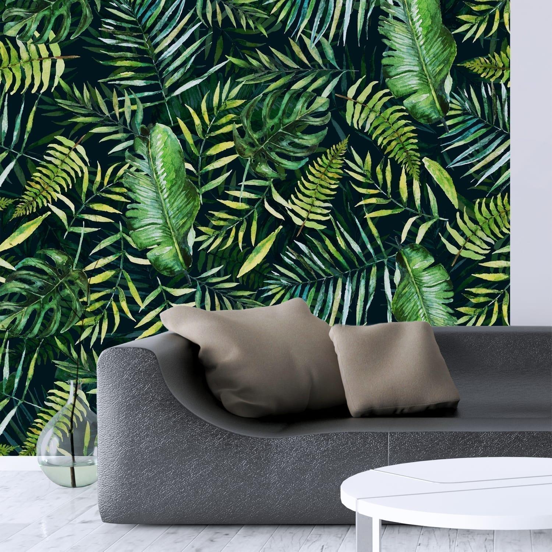 Tropische Blätter Tapete