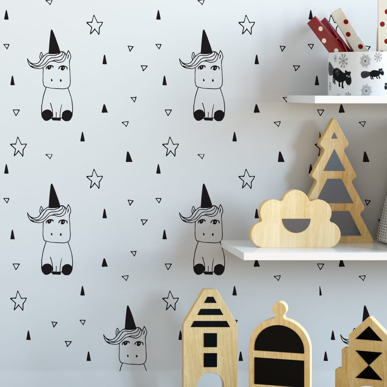 Unicorn Nursery Wallpaper