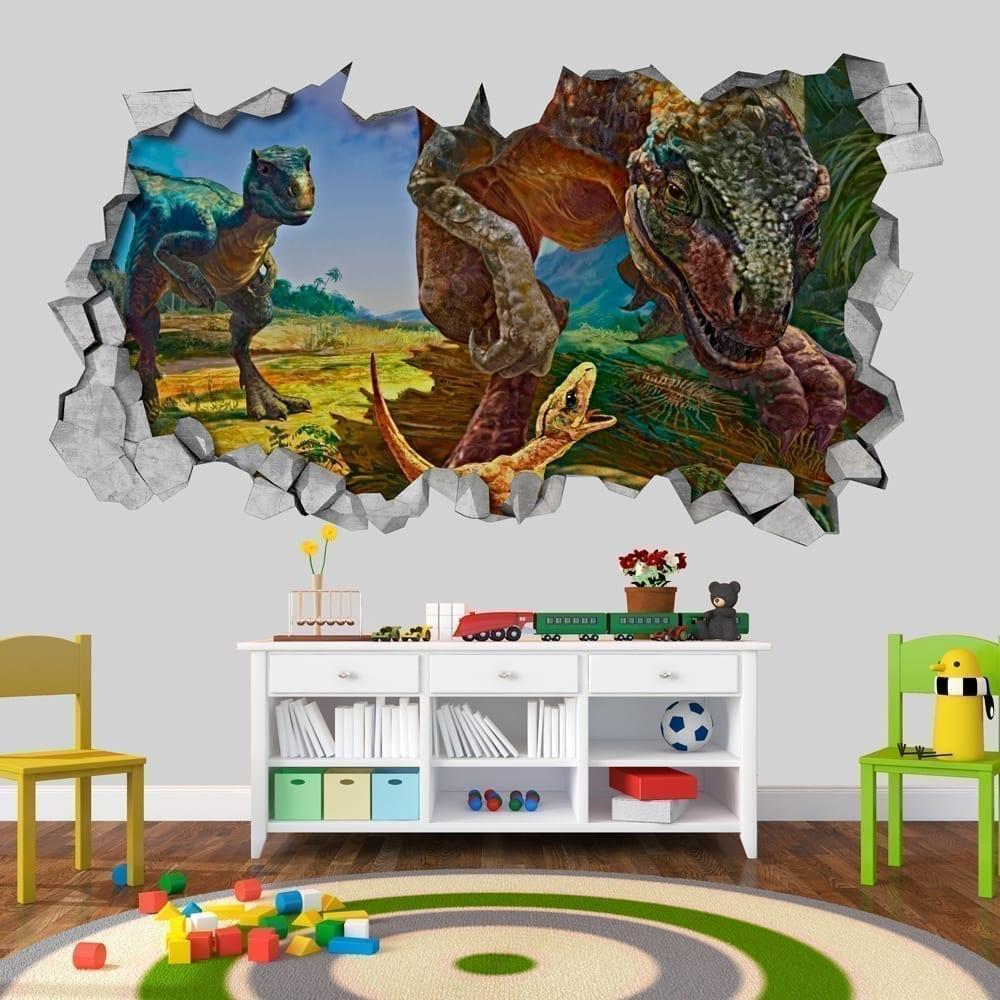 velociraptor-dinosaur-family-3d-wallpaper
