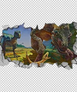 velociraptor-dinosaur-family-3d-wallpaper-detail