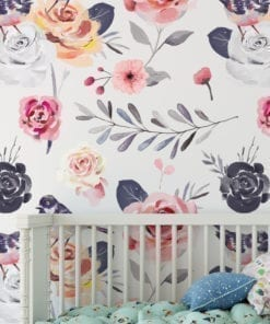 Vintage Floral Nursery Wallpaper