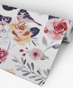 Vintage Floral Nursery Wallpaper Roll