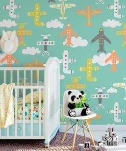Nursery Planes Wallpaper