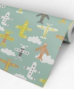 Nursery Planes Wallpaper Roll