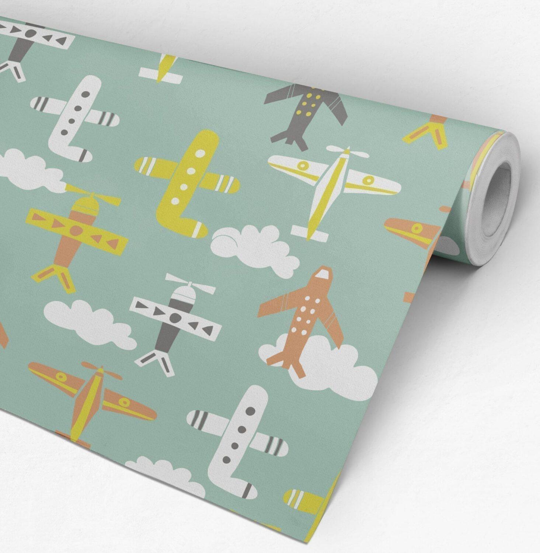 Nursery Planes Wallpaper Roll