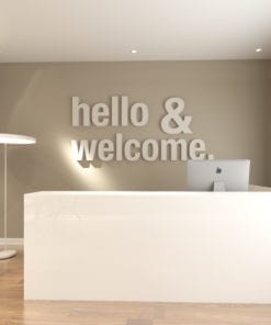 Hello & Welcome Office Design 3D