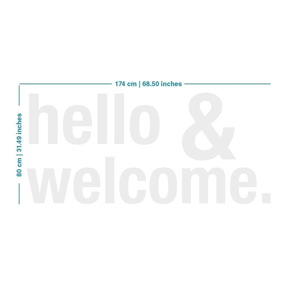 Hello & Welcome Office Design 3D - Dimensions