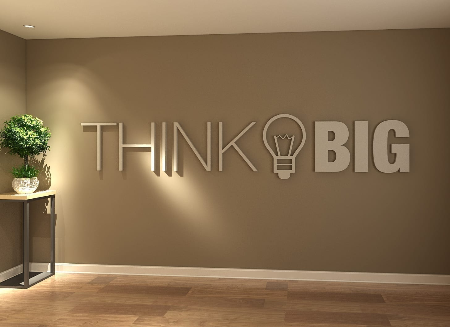 Think Big Office Decor 3D
