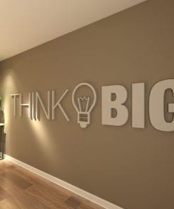 Think Big Office Decor 3D