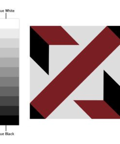 French Red and Black Traditional Tile Decals - Color Spectrum