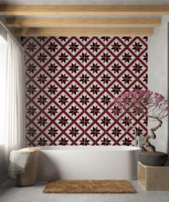 French Red and Black Traditional Tile Decals - Wall 1