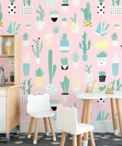Fun Cacti Pattern Removable Wallpaper