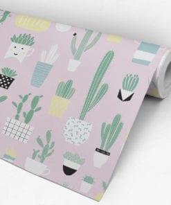 Fun Cacti Pattern Removable Wallpaper - Roll
