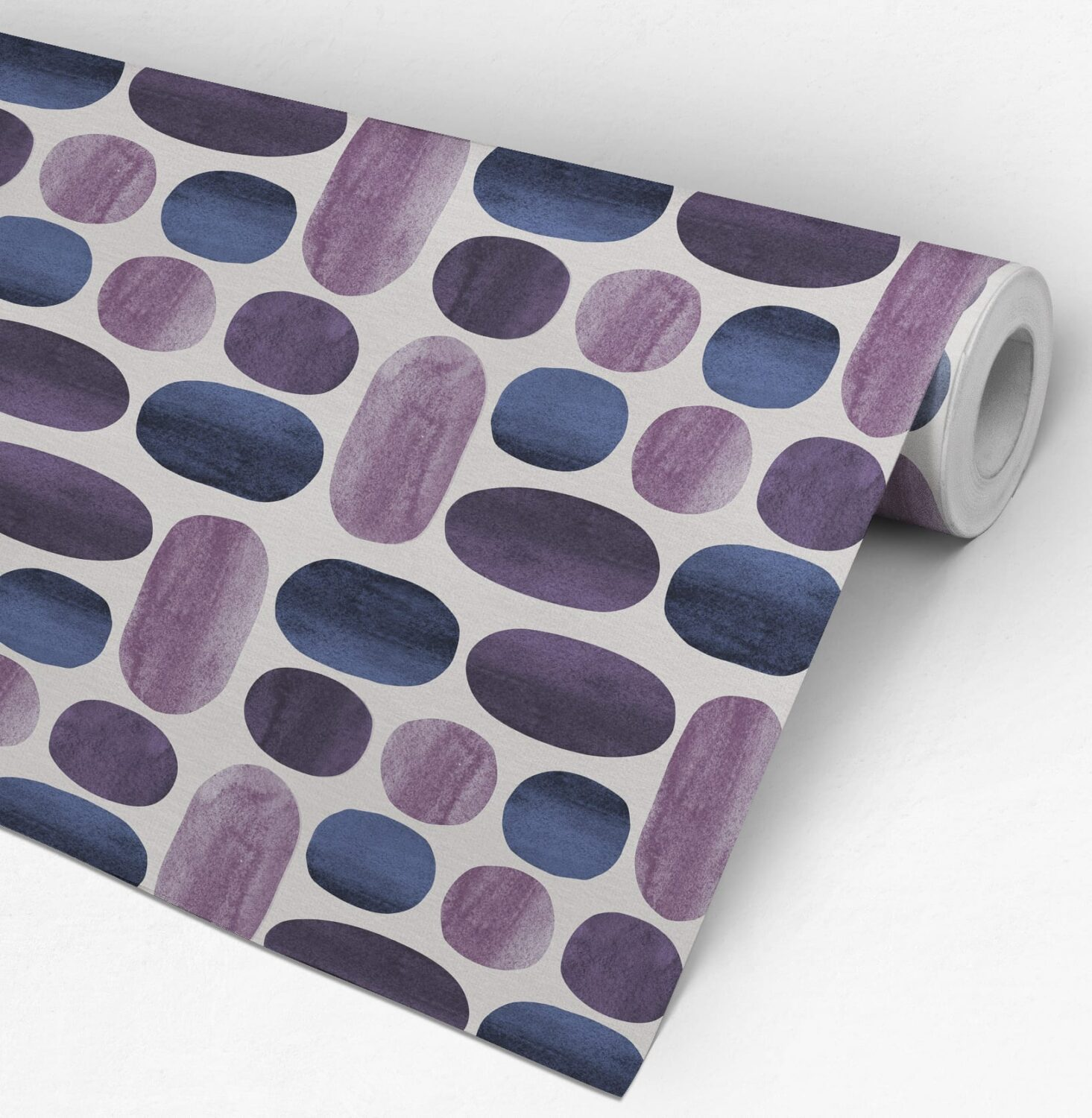 Indigo Watercolor Wall Decoration - Roll