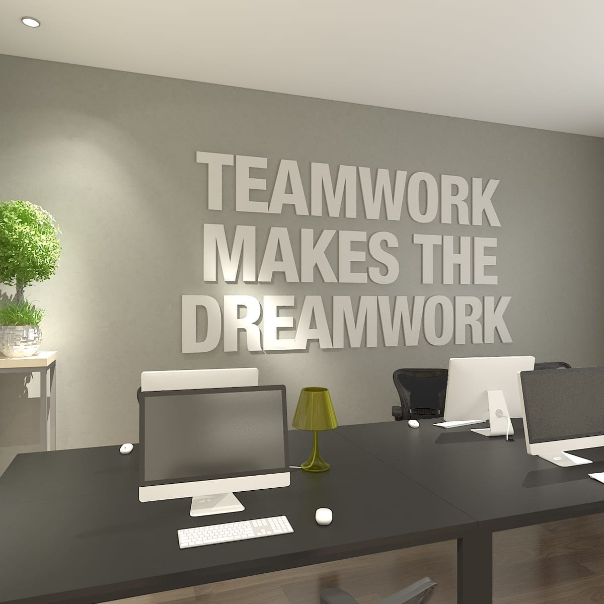 Teamwork Makes The Dreamwork 3D Deco Bureau