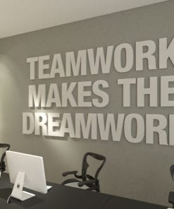 Teamwork Makes The Dreamwork 3D Office Decor