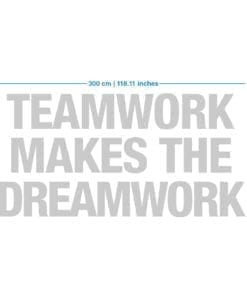 Teamwork Makes The Dreamwork 3D Office Decor - Dimensions