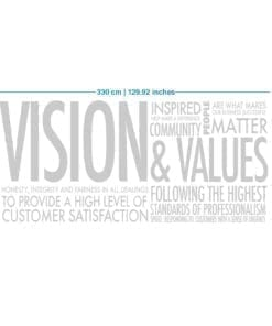 Vision & Values Office Interior Design 3D - Dimensions