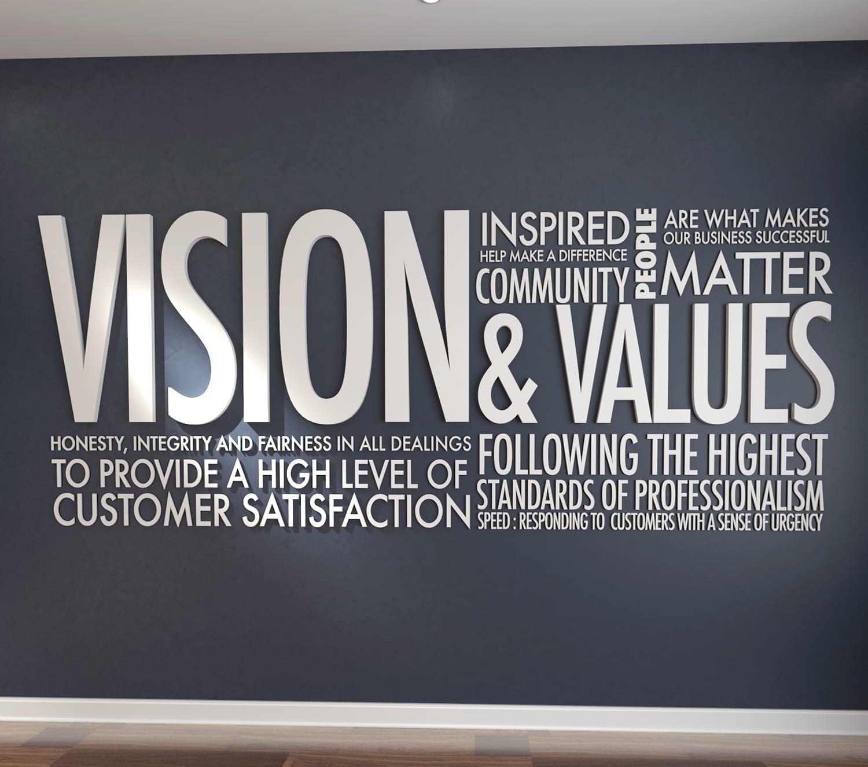 Vision Amp Values Office Interior Design 3d