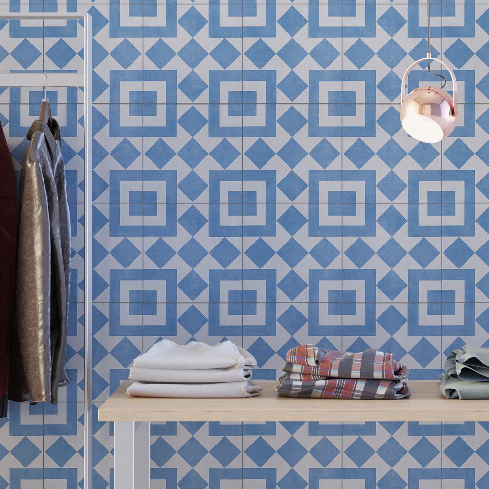 Cádiz Floor Tiles (Pack of 10) - Moonwallstickers.com