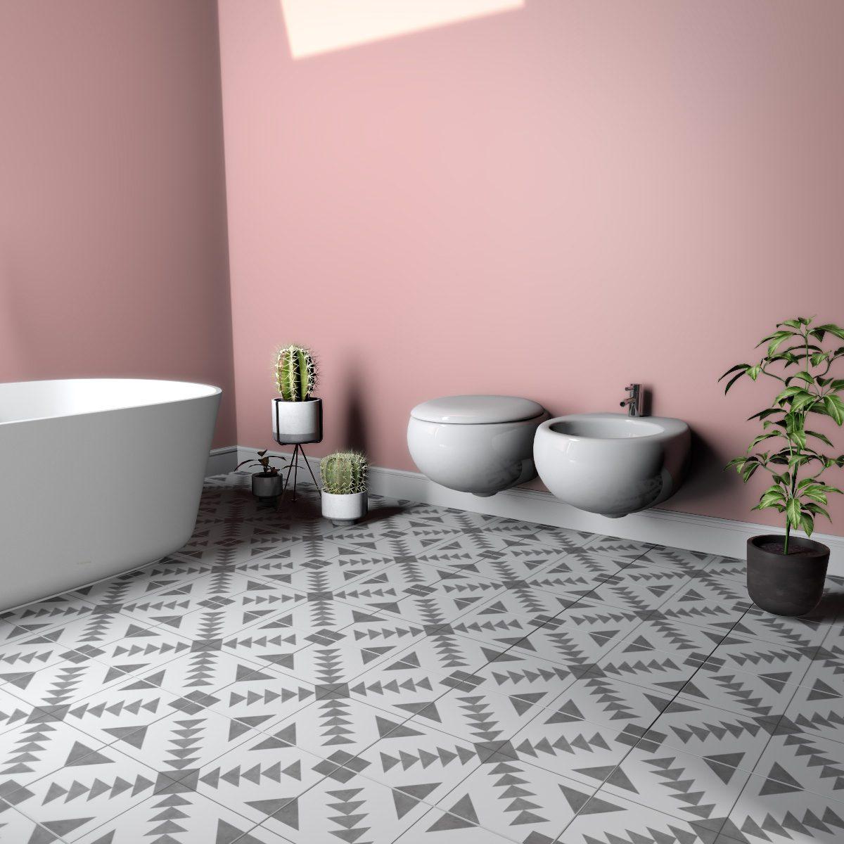 Kitchen Bathroom Ceramic Wall Tile Self Adhesive 145mm Cut Vinyl Sticker Covers