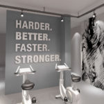 Harder, Better, Faster 3D Gym Wall Decor
