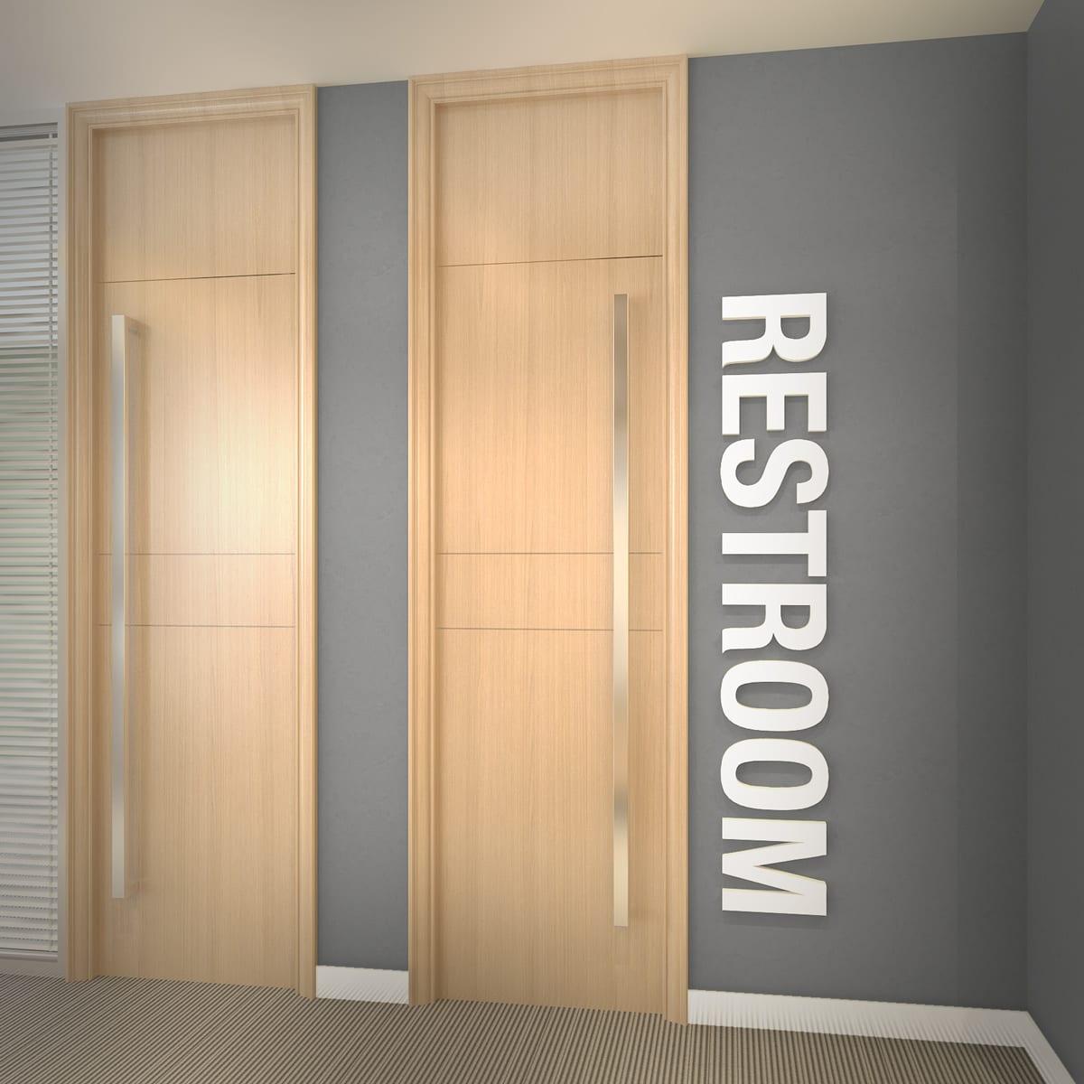 Restroom 3D Office Wall Decor