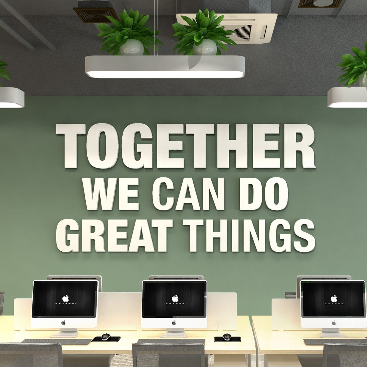 Together 3D Office Wall Decor - Moonwallstickers.com