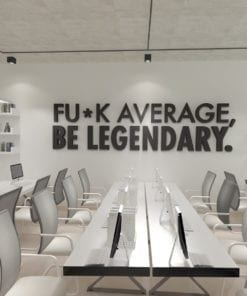 Be Legendary 3D Office Wall Decor