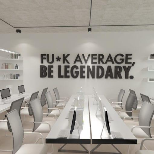 Be Legendary 3D Office Wall Decor