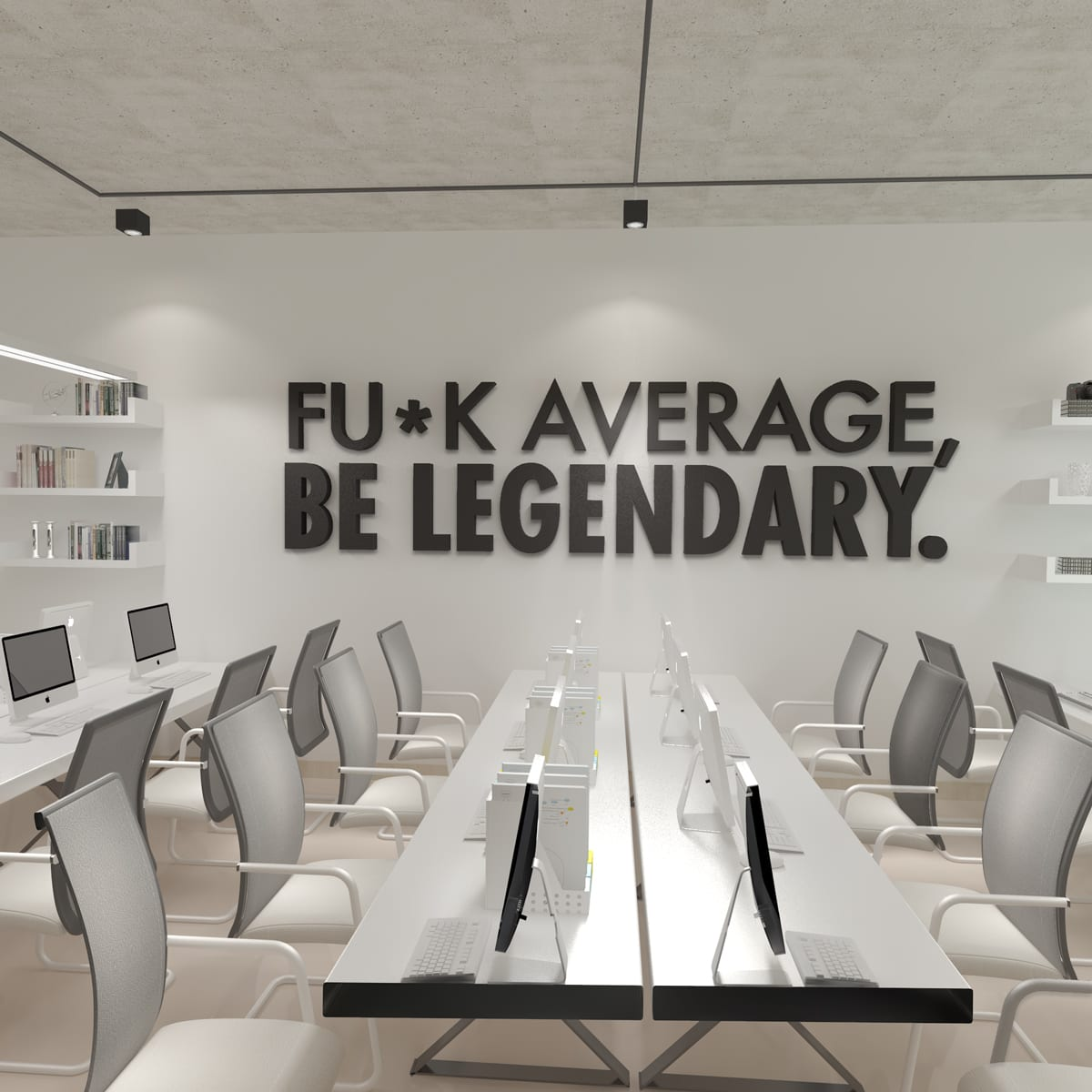 Be Legendary Büro Wand Dekor