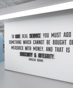 To Give Real Service 3D Office Wall Art
