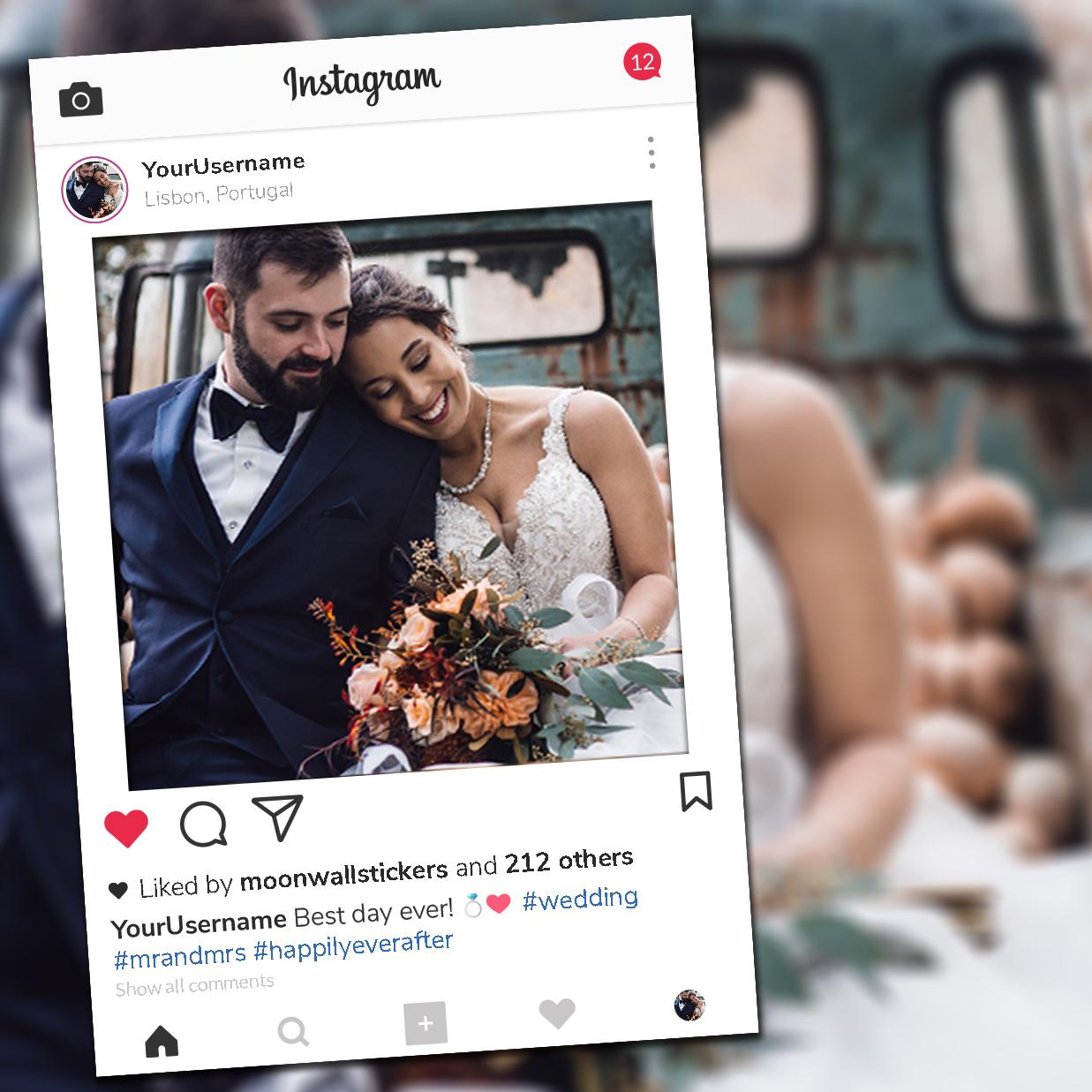 Wedding photo booth frame