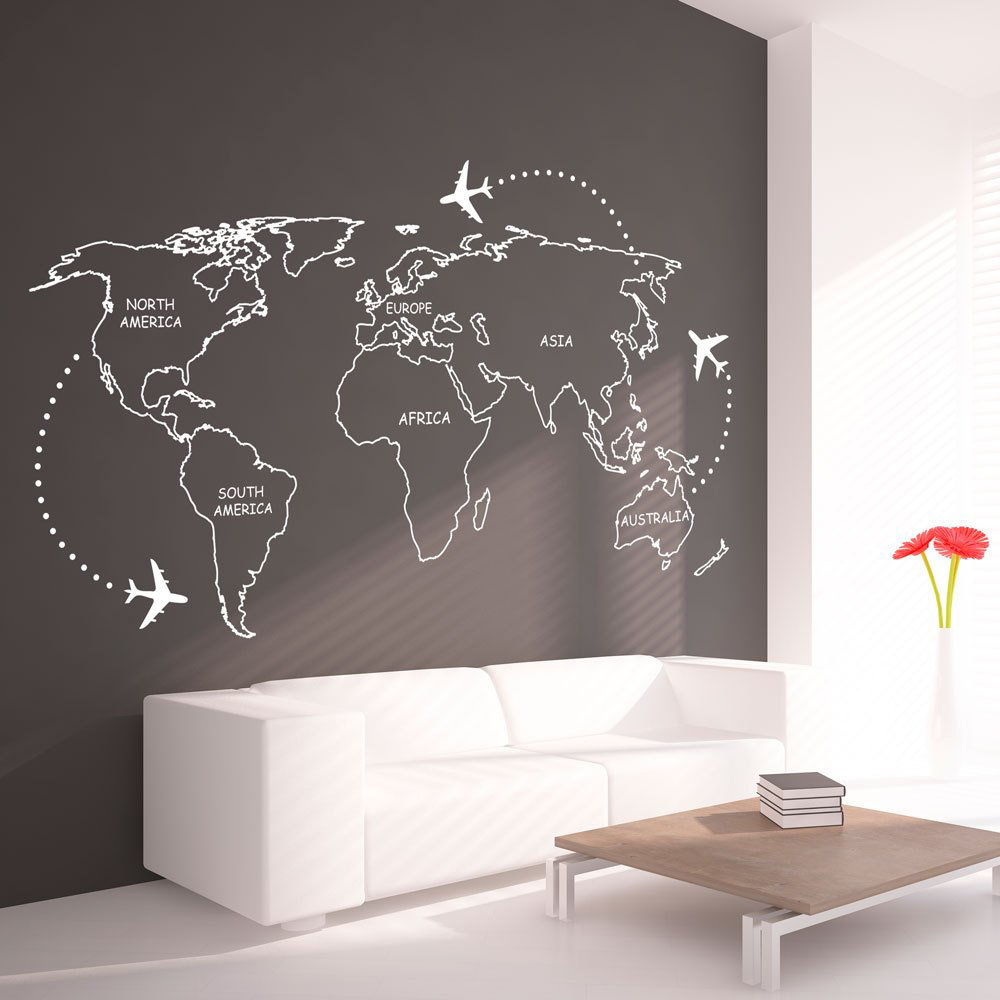 Vinyl Wall Decal Africa Continent Map Home Decoration Love Stickers Mu Wallstickers4you
