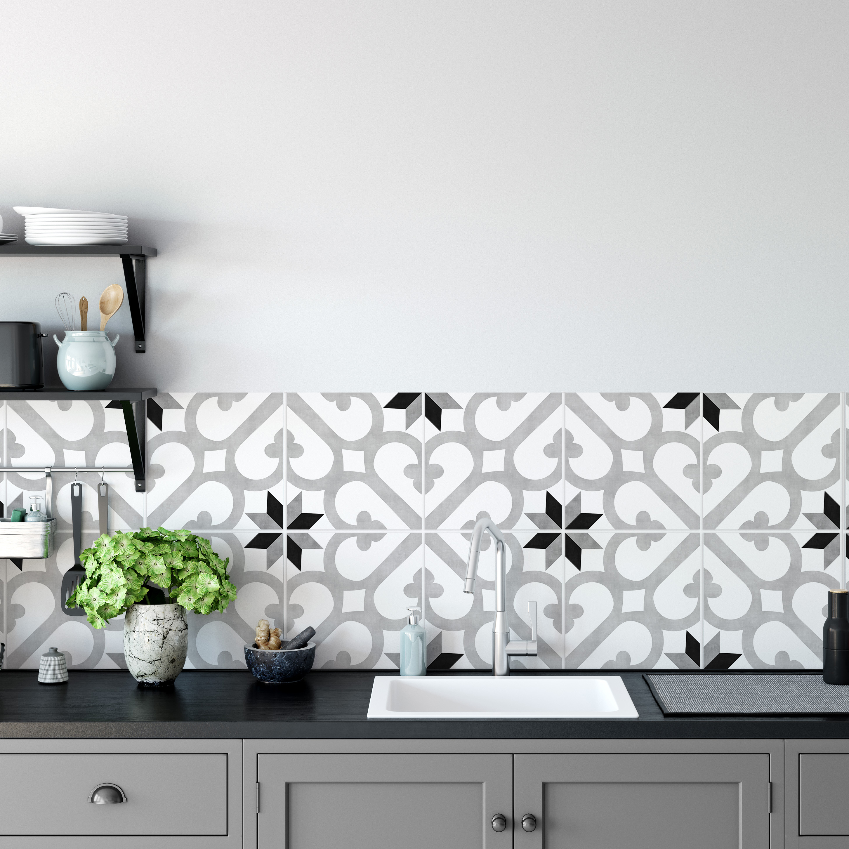 Kitchen Backsplash Decor Diana Tile Stickers Moonwallstickers Com