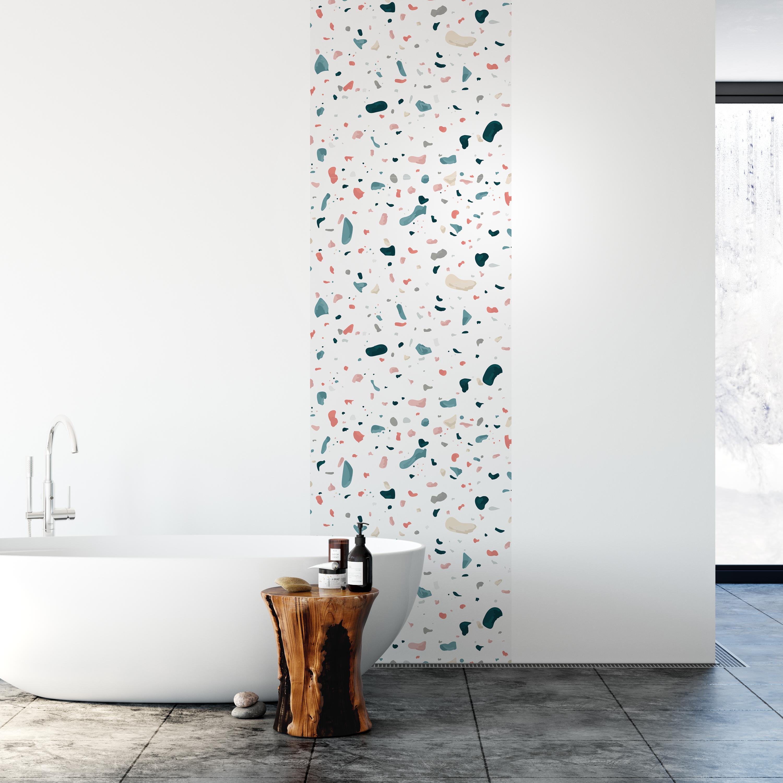 Kitchen Backsplash Decor - White Terrazzo
