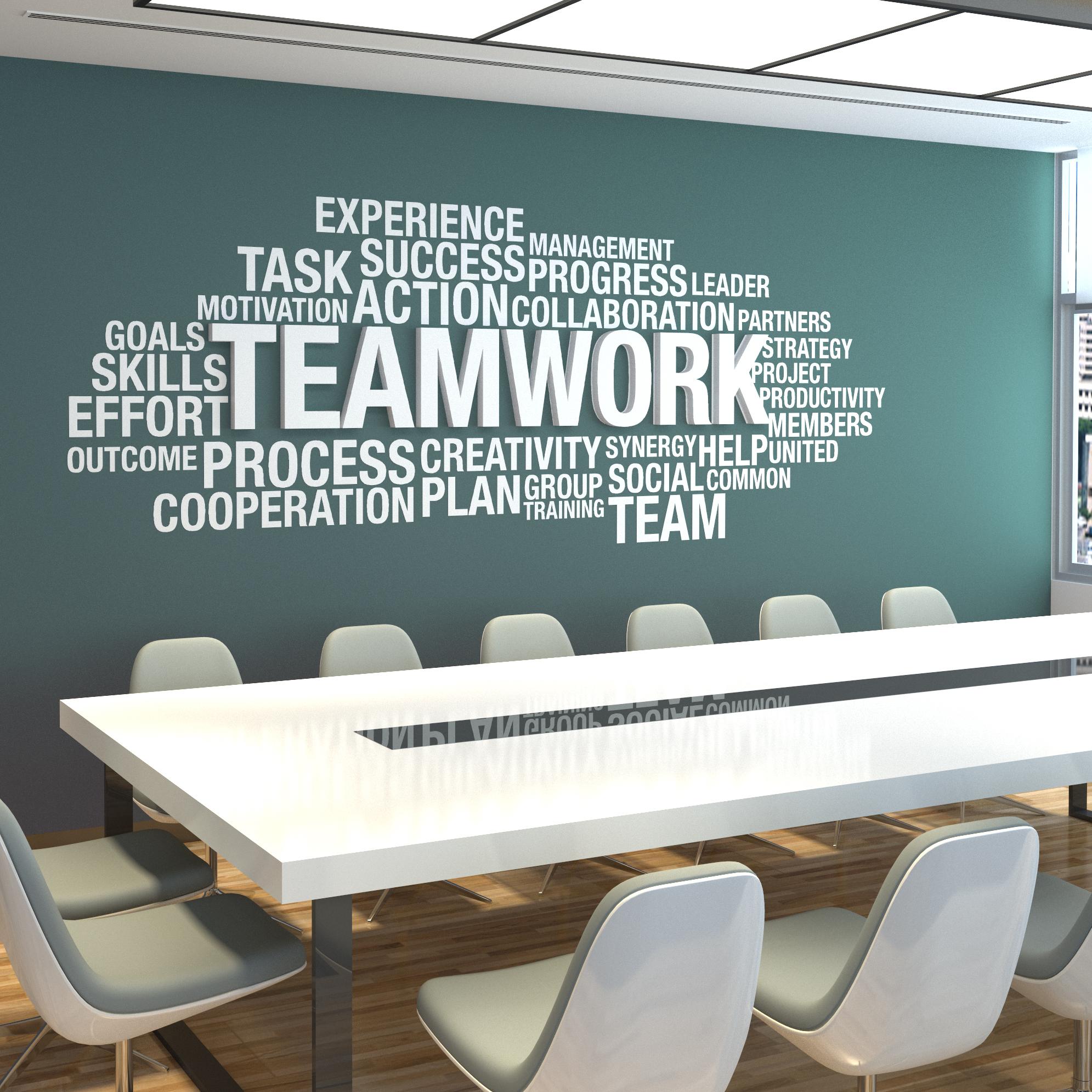 Team Work 3D Office Wall Decor