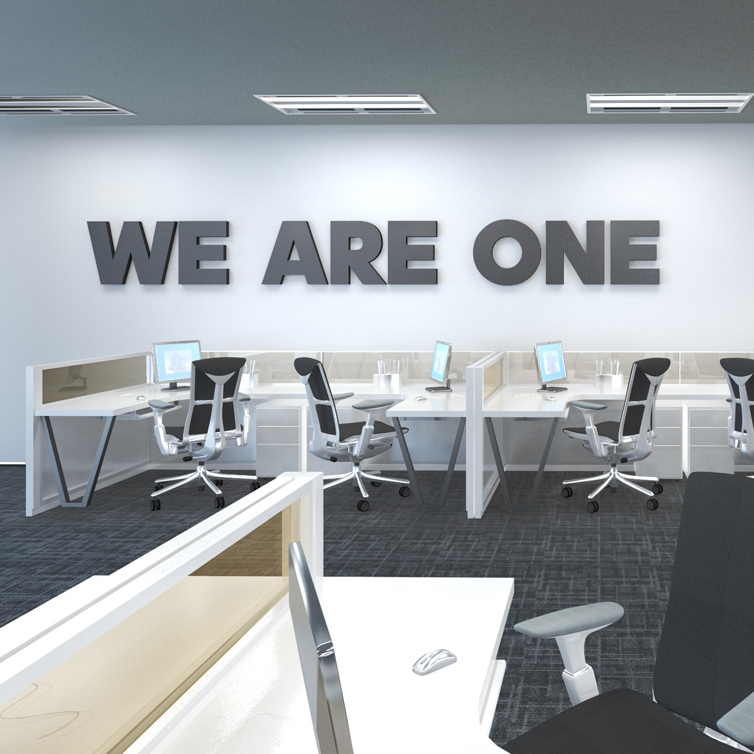 We Are One 3d Office Wall Decor Moonwallstickers Com