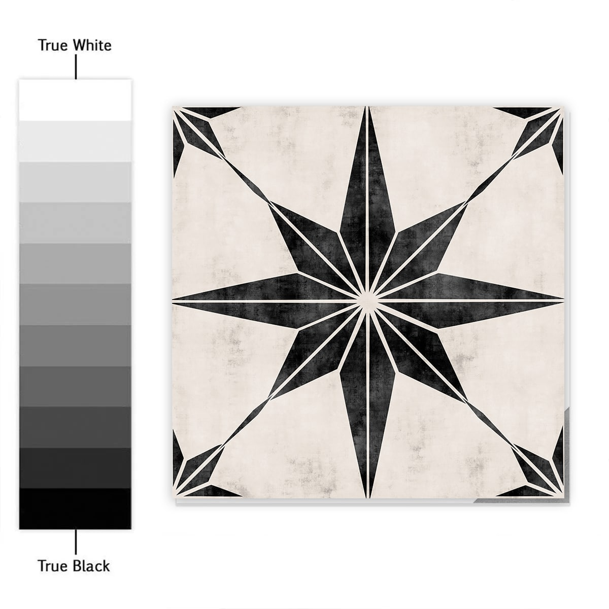 Black Stars Tile Stickers Pack Of 10, Bathroom Tile Decals Uk