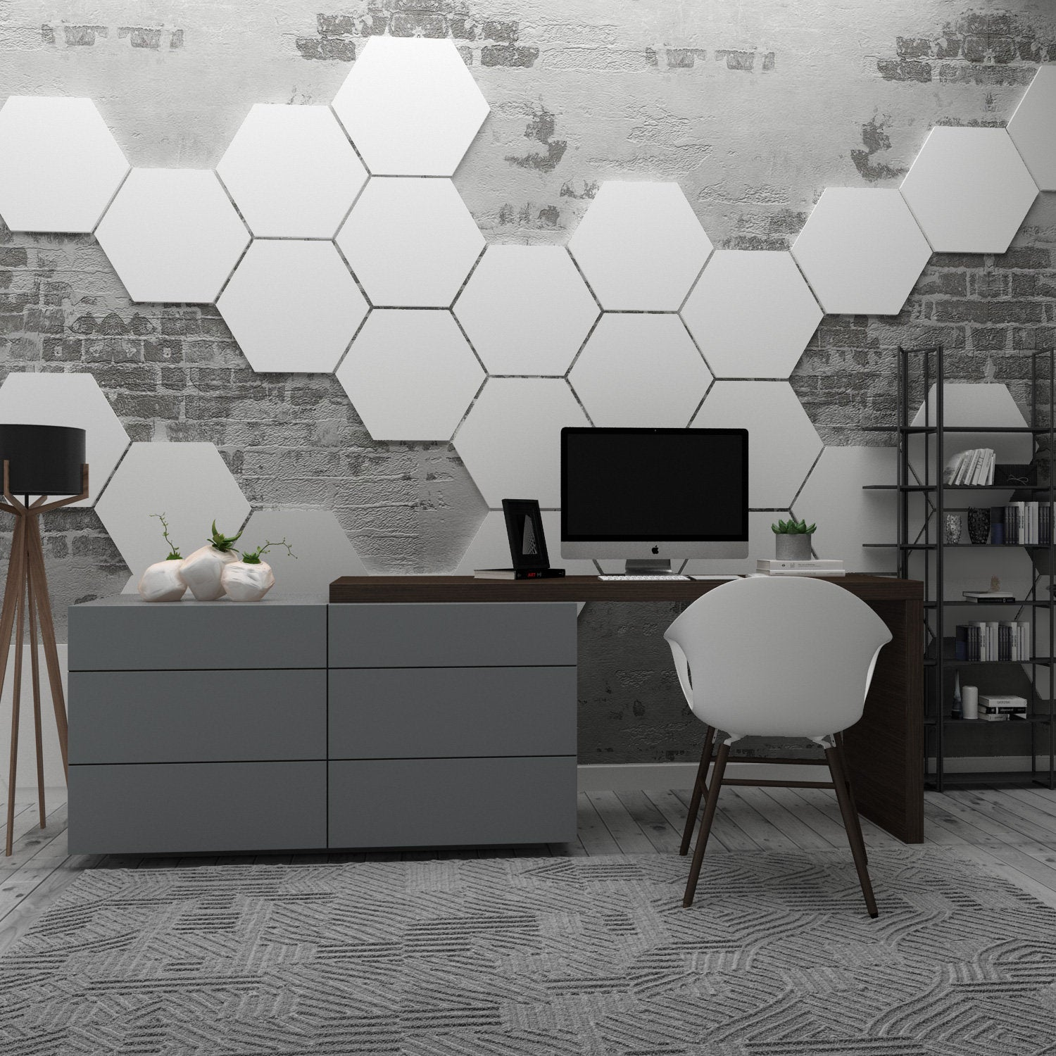 Hexagon Wall Decor Pack 15