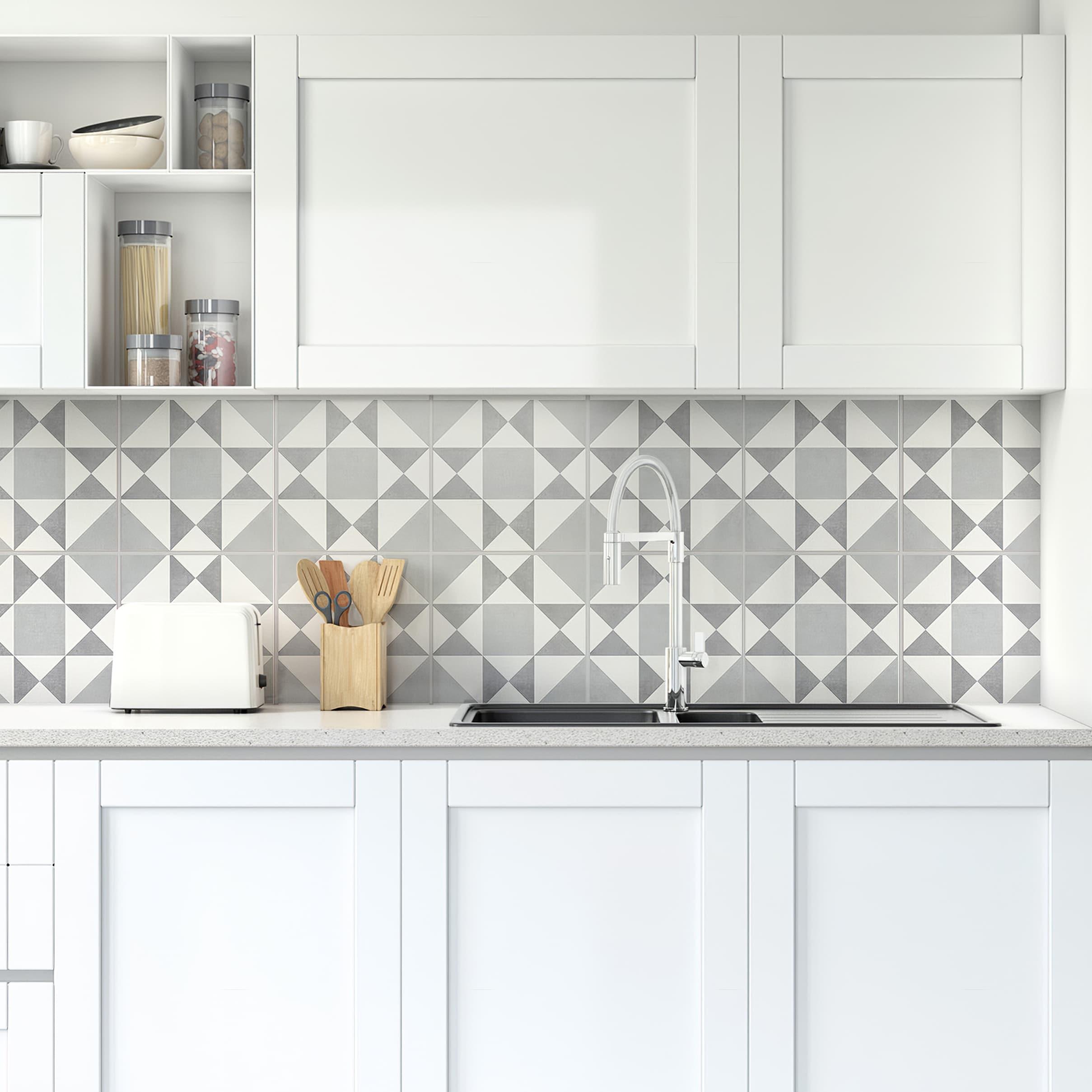 - Kitchen Backsplash Decor - Ohio Pattern Tiles - Moonwallstickers.com