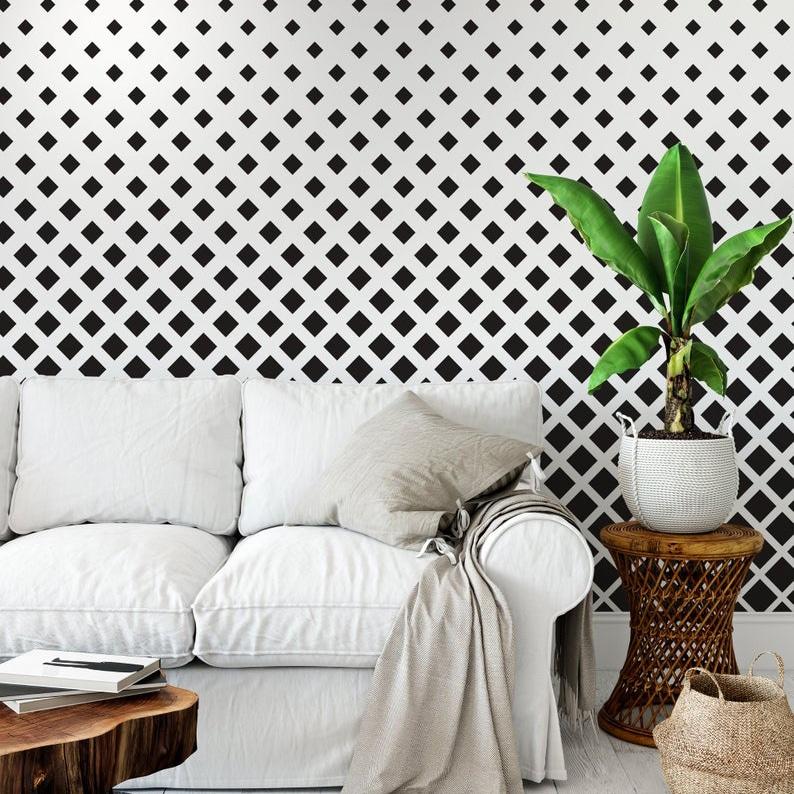 Small Squares Pattern Wallpaper - Moonwallstickers.com