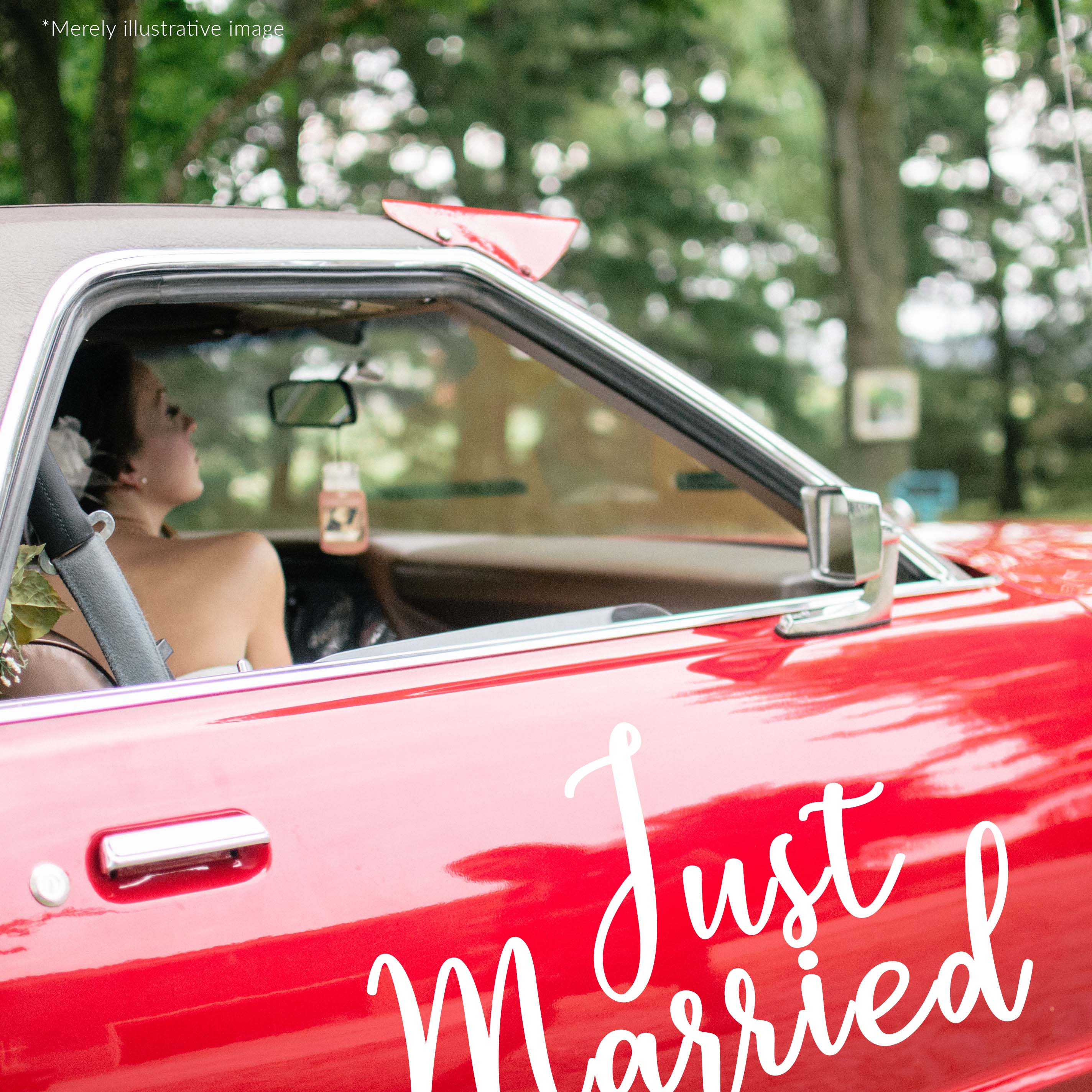 Just married car sticker moonwallstickers com